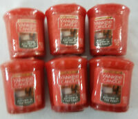 Yankee Candle Votives: AUTUMN IN THE PARK Wax Melts Lot of 6 Orange New Label