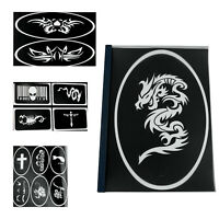 OPHIR Reusable Airbrush Tattoo Template Stencil for Temporary Tattoo Body Paint