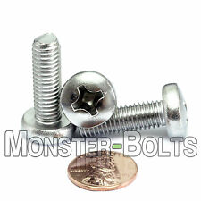 M8 x 25mm - Qty 10 - Stainless Steel Phillips Pan Head Machine Screws DIN 7985 A