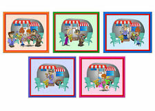 Caravan Card Making Topper Crafting Assorted Old Age Traveller Theme Toppers x 5
