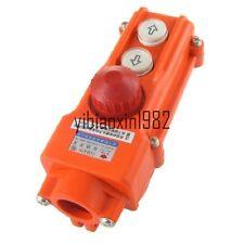 Grúa de elevación a prueba de lluvia pulsador interruptor hacia arriba, hacia abajo W de parada de emergencia 250V 5A 500V 2A