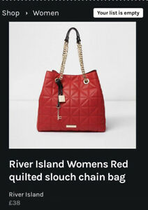 River Island Red Quilted Bag