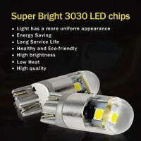 2pcs W5W T10 3 SMD 3030 LED Bulbs Super Bright White For Car Exterior Daytim 5W4