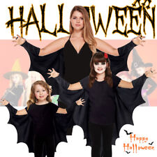 Vampire Gothic Bat Wings Costume Cape Fancy Dress Halloween Outfit New All Size