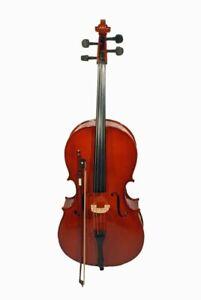 4/4 Cello inklusive Bogen und Tasche in 3 verschiedenen Farben (braun, weiß und