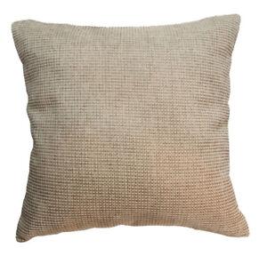 Qe04a Brown Light Tan Brown Rough Cotton Blend Sofa Cushion Cover/Pillow Case
