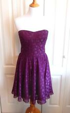 NWOT GUESS Magenta Empire Waist Cocktail Dress Size 10 Strapless