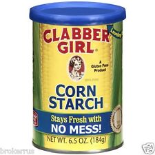 CLABBER GIRL Pure 100% CORN STARCH Gluten Free Kosher Cornstarch 6.5 oz Canister