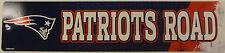 "Rico NFL Plastic Street Wall Sign 3.75"" x 16'' New England Patriots"