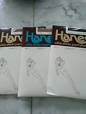 Lot 3 Hanes sandalfoot ultra sheer pantyhose size A style 710 & 950 (2)