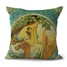 decorative accessories art nouveau Alphonse Mucha Poetry cushion cover