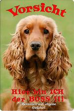 COCKER Spaniel - A4 Metall Warnschild Hundeschild SCHILD Türschild - CKS 06 T7