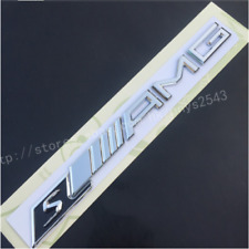 Chrome S////AMG Letters Trunk Badge Emblem Sticker for Mercedes Benz Sport S AMG