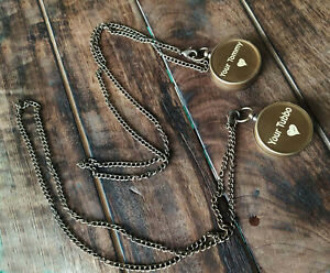 Brass Antique Your Tommy Your Tubbo Compass Necklace Love Pendent Compass Gift