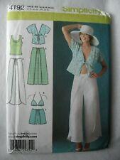 Simplicity 4192 Wrap Pants Shorts Kimono Bra Knit Top Sewing Pattern 14 - 22
