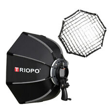 Triopo 65cm Octagon Softbox Diffuser with Honeycomb Grid for Speedlite Flash