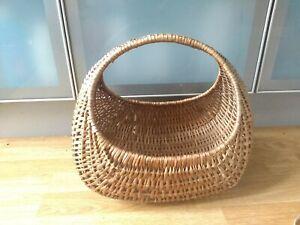50s Vintage Wicker Gondola Shopping Basket