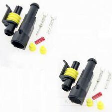 2x Superseal 1-polig Stecker Steckverbinder Wasserdicht für Auto KFZ Boot