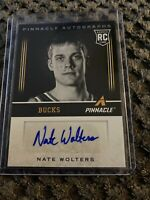 2013-14 PINNACLE #147 NATE WOLTERS AUTOGRAPH ROOKIE RC, MILWAUKEE BUCKS