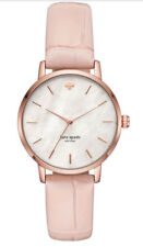 KATE SPADE Women's metro pink croc-embossed leather 34mm Watch KSW1425 New!!