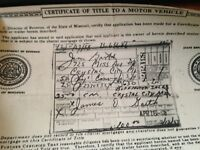 1952 Plymouth Convertible Historical Paperwork Document Hot Rod Project