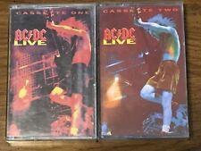 AC/DC Live Box Set - 2 Original Cassettes 1992 Atlantic Records *Tested*