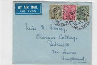 india 1937 to england airmail  stamps cover ref 13205