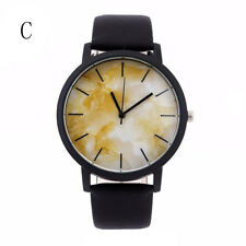 Popular Men Casual Stainless Steel Quartz Analog Leather Band Dial Wrist Watches B#