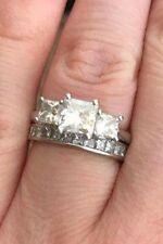 Exquisite Rox Platinum Diamond Wedding Band Size H 0.75 Crt