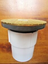"""New listing Pipe Drain, 3"""" x 4"""" Pvc Drain Base w/Brass Top, adusts to 6"""" w/Brass Top"""