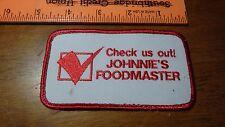JOHNNIE'S FOODMASTER  Chelsea,  MASSACHUSETTS PATCH BX W #6