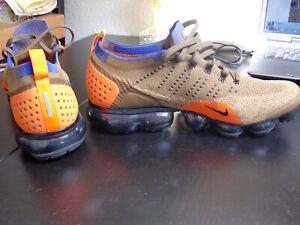Nike Vapormax Flyknit EUR 46 US 12 braun blau orange