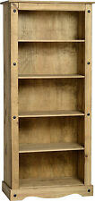 MEXICAN PINE CORONA TALL BOOKCASE / BOOKSHELF *FREE NEXT DAY DELIVERY