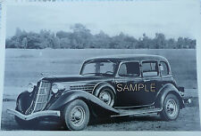 1935 Auburn 4 Door Sedan With Wire Wheels 12 X 8 Black & White Picture