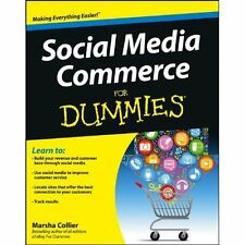 Social Media Commerce for Dummies SIGNED Marsha Collier Marketing Selling How To