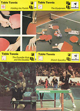 TABLE TENNIS Ping Pong Sports History 1977-79 SPORTSCASTER USA 4 CARD LOT