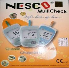 Nesco Multicheck Glucose Uric acid Cholesterol Meter Test Kit Health Monitoring