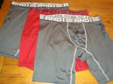 3 And1 Men's Performance Underwear - 3 Long Boxer Briefs, No Fly - Size Xlarge
