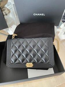 Chanel Tasche limitiert Wallet on chain WOC schwarz le boy Lamm bag top Zustand