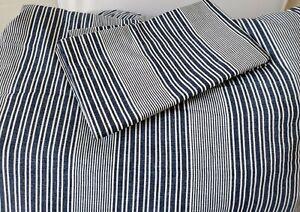 Tommy Hilfiger Stripe Chambray Blue  2pc TWIN XL Cotton Comforter Set
