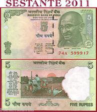 INDIA - 5 RUPEES  2009 - P 94A  Lettera L    - FDS / UNC