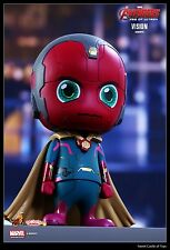 9.5CM Hot Toys Avengers Age of Ultron Cosbaby Vision Capitaine Américain Cosb183
