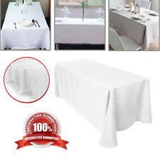 """Plain Polyester Table Cloth White Rectangle 60x102"""" Table Cover Wedding Parties"""