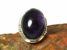AMETHYST  Sterling  Silver  925  Gemstone  RING  -  Size: P  -  Gift Boxed!