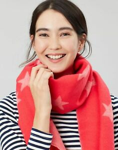 Joules Womens Mardale Woven Rectangle Scarf - Pink Star - One Size