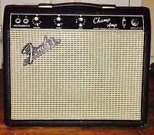 Vintage 1966 Fender Blackface Champ Amp Tube Amplifier