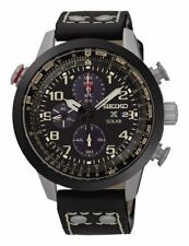 Seiko Watch Prospex Solar Chronograph Black Mens SSC423P1