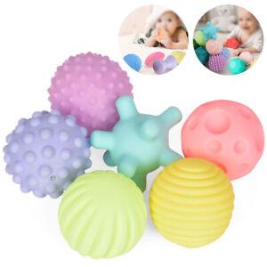4/6PCS Baby Set Hand Massage Multi Textured Sensory Soft Balls Puzzle Sound Toys