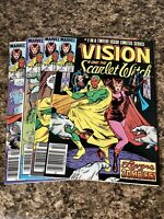 Lot Of 4 Vision & The Scarlet Witch 1 2 3 5 Vol 2 Wandavision Newsstand Marvel