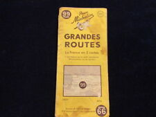 Vintage 1949 Michelin France #99 Grande Routes 2 Cartes Road Map in French